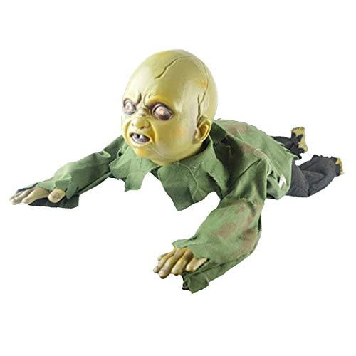 Tubayia Elektrische Geistpuppe Zombie Puppe Halloween Party Requisiten Dekoration Spielzeug Geschenk für Kinder / Erwachsene (A) (Elektrische Halloween Requisiten)