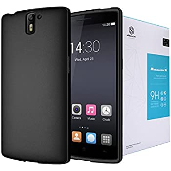 Diztronic Bundle for OnePlus One Full Matte Black with Nillkin 9H Anti-Burst Tempered Glass Protector - Retail Packaging