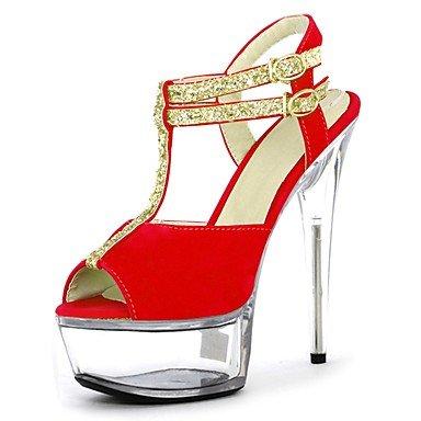 RTRY Donna Pantofole &Amp; Flip-Flops Ciabatte Pvc Summer Party &Amp; Sera Crystal Stiletto Heel Ruby Bianco Nero 5In &Amp; Oltre US6 / EU36 / UK4 / CN36