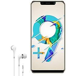 Smartphone Pas Cher 4G 5,85 Pouces V mobile S9 Plus Android 8.1 3Go RAM 16Go/Extensible à 128Go Téléphone Portable Débloqué 4G Batterie 4300mAh Quad Core Double Caméra Face ID Bluetooth WiFi (Or)