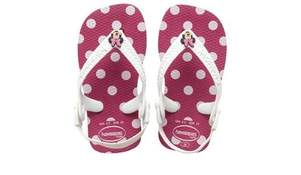 f0df6d0b9a3a02 Havaianas Girls Baby Disney Classics Super Pink Flip Flops Sandals Minnie  Mouse  Amazon.co.uk  Shoes   Bags