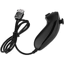 Nunchuck y regulador alejado, Curved Game Handle Controller Gamped Remote Control for Nintendo Wii(Negro)