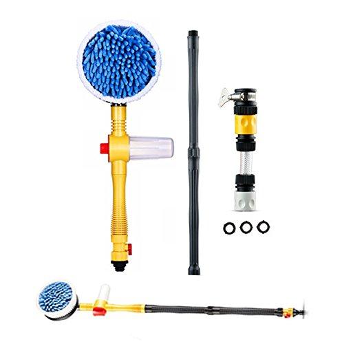 OneSky-UK-Non-elettrico-rotante-Spazzola-per-auto-Automatico-Lavare-Brusher-con-il-serbatoio-del-sapone-Alta-pressione-lunghezza-regolabile-spruzzi-dacqua-Strumento-pulito-per-lavaggio-delle-finestre-
