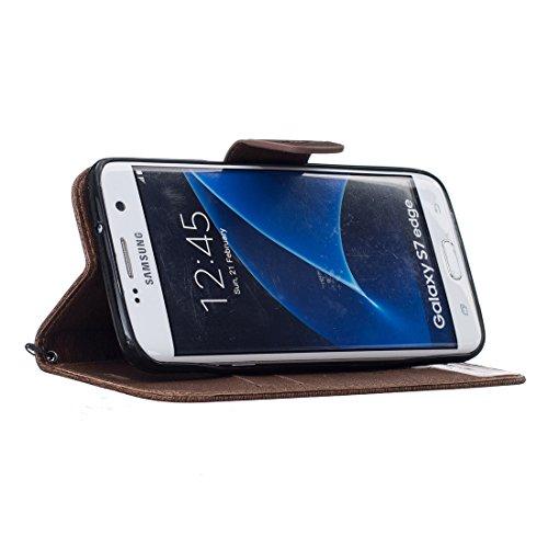 Chreey Coque Apple Iphone 6 / 6S (4.7 pouces) (DON'T TOUCH MY PHONE),PU Cuir Portefeuille Etui Housse Case Cover ,carte de crédit Fentes pour ,idéal pour protéger votre téléphone brun