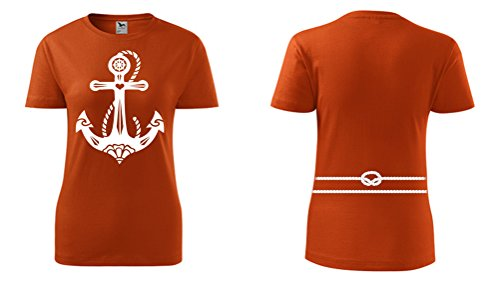 Colour Fashion -  T-shirt - Donna Orange