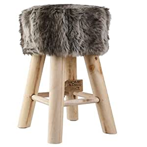 fellhocker hocker sitzhocker shemel fu hocker holz felloptik stuhl fell neu k che. Black Bedroom Furniture Sets. Home Design Ideas