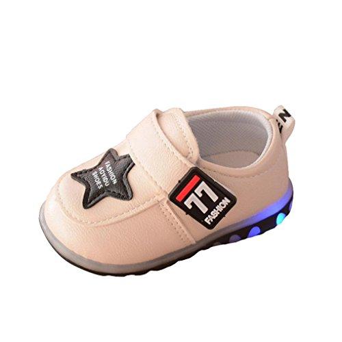 JERFER Herbst Kleinkind Sport Running Baby Schuhe Jungen Mädchen Leuchtende Schuhe Sneakers (19,...