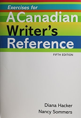 Canadian Writer's Reference 5e & Exercises Canadian edition by Hacker, Diana, Sommers, Nancy (2011) Hardcover par Diana, Sommers, Nancy Hacker