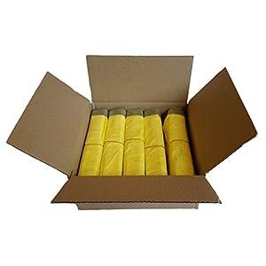 Gelber Sack – Ein Karton mit 10 Rollen (130 Gelbe Säcke) – 15 µm Folienstärke