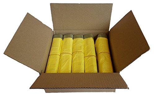 *Gelber Sack – Ein Karton mit 10 Rollen (130 Gelbe Säcke) – 15 µm Folienstärke*