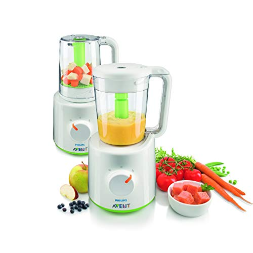 Philips AVENT 2-in-1 healthy baby food maker SCF870/22 - blenders (Tabletop blender, 0.4 L, 0.7 m, 400 W, 220 - 240 V, 50/60 Hz)