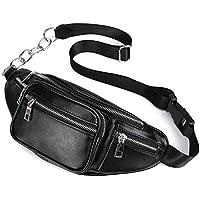 Rrock Bolso De Cintura De Cuero Unisex, Bolso De Almacenamiento De Gran Capacidad De Moda