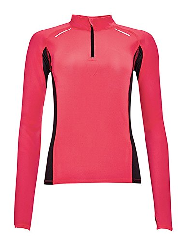 Women's T-shirt manches longues pour running Berlin NeonCoral