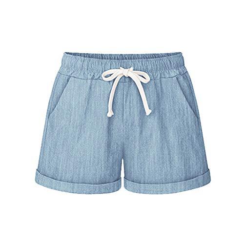 Engel Plaid Shorts (cinnamou Große Größe einfarbig Tasche Casual Hosen lose EIN Wort Hot Pants weites Bein Hosen,Frauen Plus Size Pocket Bandage Solid Shorts Laufen Sport Weite Hosen)