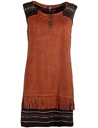 376c0f94867408 Coline - Robe Tendance amérindienne sans Manche
