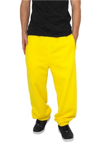 Gelbe Hosen Für Männer (Urban Classics Sweatpant / Herren Jogginghose yellow in Größe: XL + Original Bandana gratis)