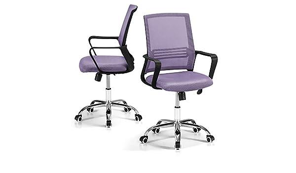 Mondo convenienza cordoba sedia con braccioli colore malva e ruote