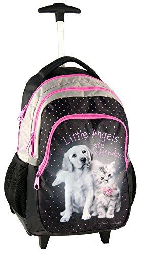 zaino-trolley-scuola-cuccioli-cane-gatto-rachaelhale-ragazza-nero-rosa