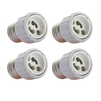 4x led light bulb socket adapters e27 to gu10 lighting. Black Bedroom Furniture Sets. Home Design Ideas