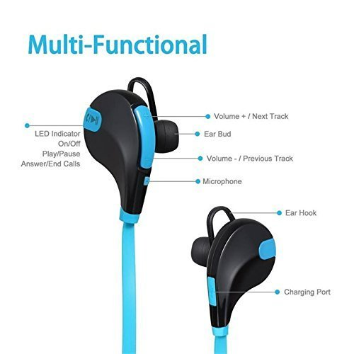 Wireless Bluetooth in-Ear Headphones for OnePlus 7T Pro Sports Bluetooth Wireless Earphone with Deep Bass and Neckband Hands-Free Calling inbuilt Mic Headphones with Long Battery Life and Flexible Headset Image 3