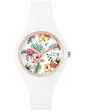 Ice-Watch - ICE flower Legend - Weiße Damenuhr mit Silikonarmband - 001436 (Small)