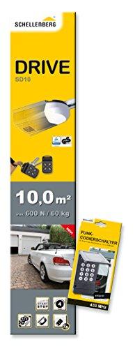 Schellenberg-60562-Garaje-Smart-Drive-10-Radio-de-Codi-Interruptor-antracita
