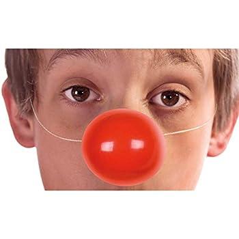 OULII 25pcs éponge drôle Clown nez déguiser les accessoires les accessoires de scène pour Noël Halloween Party Costume billes (rouge)