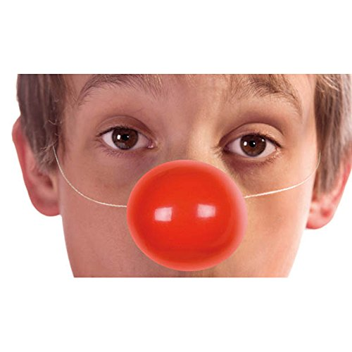 Unbekannt Aptafêtes–AC2420–Clownsnasen für Kinder/Erwachsene, mit Gummiband, 6 ()