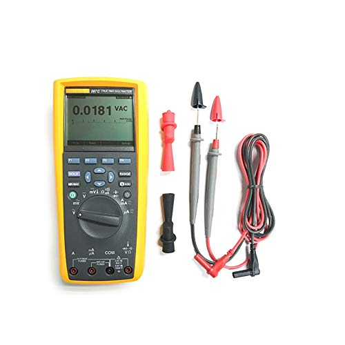 Elektronisches Multimeter Industrielles True-RMS-Logging-Multimeter mit Voltmeter zur Erfassung von Trends Amperemeter OHM AC DC-Tester Multi Multimeter (Color : Gelb, Size : 287C)