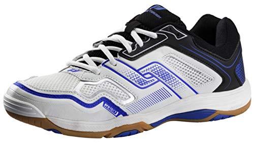 Pro Touch Indoor-Schuh Rebel M, Herren Multisport Indoor Schuhe, Schwarz (Black/White/Blue 000), 44 EU (9.5 UK)