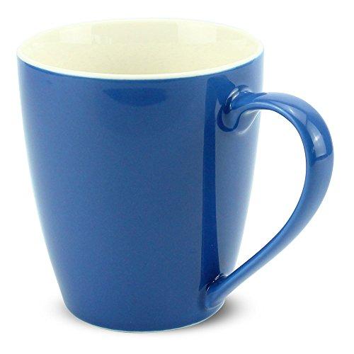 matches21 Tasse Becher Kaffeetassen Kaffeebecher Unifarben/einfarbig blau dunkelblau Porzellan 6 Stk. 10 cm / 350 ml