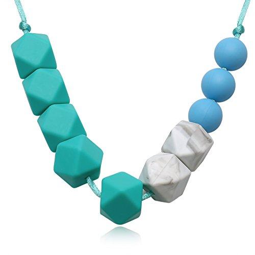 Yazilind Frauen Schmuck Mode böhmischen Stil Silikagel Anhänger Seil Kette Halskette für idear Geschenk