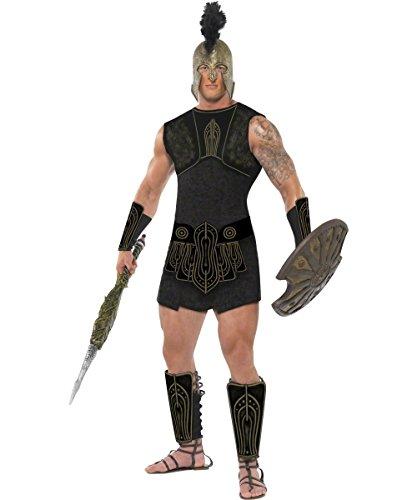 ll Römer Gladiator Antike Krieger Kostüm schwarz-gold L (Achilles Krieger Kostüm)