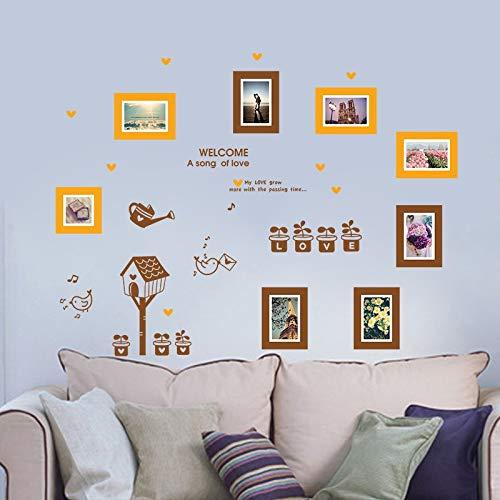 Autocollant Mural Oiseaux Fleurs En Pot Photo Murale Pour Salon Chambre Mon Amour Grandir Plus Avec Le Temps Passant Photo Cadre Autocollant