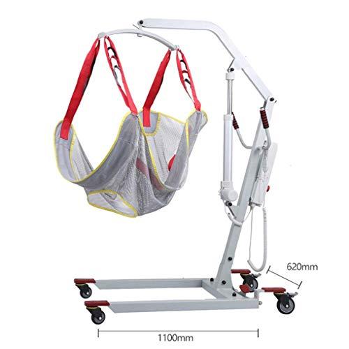 41W9VqJAomL - YXP Grúa Eléctrica para Pacientes para Uso doméstico Ligeros Plegables con eslingas Medianas de Malla Completa, con Base Baja, Capacidad de Peso de 450 LB