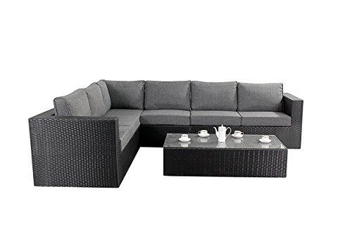 Port Royal Prestige Rattan Garden Furniture Sun Lounger – Black