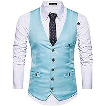 Yying Estilo Inglaterra Moda Hombres Traje Chaleco Un Solo Pecho Vestido de Chaleco Chaleco de Boda