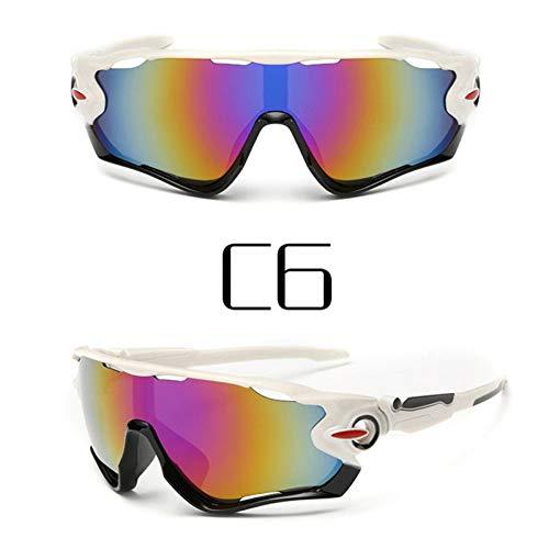 ZKAMUYLC SonnenbrilleMänner Frauen Radfahren Brille Outdoor-Sport Mountainbike MTB Fahrrad Motorrad Sonnenbrille Ultraviolett-Beweis