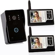"""PowerLead Caue PC12 4G 3.5"""" TFT Wireless Video Door Phone Intercom Doorbell Home Security 1-camera 2 Monitors"""