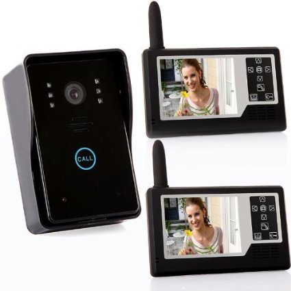 "PowerLead Caue PC12 4G 3.5"" TFT Wireless Video Door Phone Intercom Doorbell Home Security 1-camera 2 Monitors"