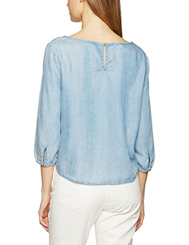 ONLY Damen Bluse Onlfrill Ls Dnm Top Qyt Blau (Medium Blue Denim Medium Blue Denim)
