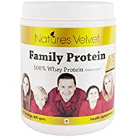 Natures Velvet Family Protein 100% Whey Protein (Unflavoured) 400gms