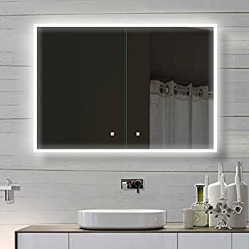 alu badschrank badezimmer spiegelschrank bad led beleuchtung 100 x 70cm sac100h70. Black Bedroom Furniture Sets. Home Design Ideas