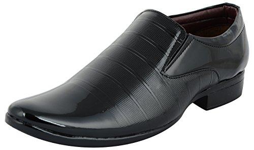 ESSENCE Men's Black Formal Loafers-7