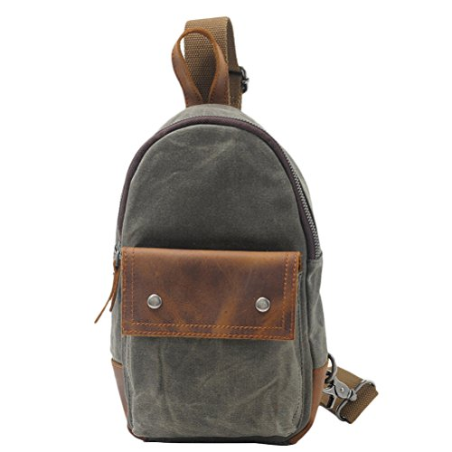 Zhhlaixing Borsa casuale Europe and the United States Fashion Men and Women Small Chest Bag Leisure Shoulder Package Green