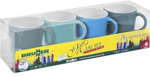 Price comparison product image Brunner Mug set 4 pcs Spectrum assort. antislip