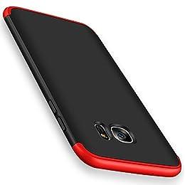 Qissy® Carcasa Samsung Galaxy S8,3 in 1 Todo Incluido Anti-Scratch Ultra Slim Protective 360 PC Case Cover para Samsung Galaxy S8 5.8'' (Rojo+Negro)