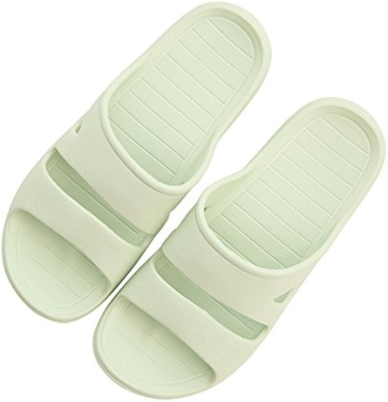 une chambre de de de plastique pantoufles fankou antidérapage bain froid pantoufles, hommes et femmes, chaussures de plage, 36 37, vert pâle b07brdcy78 parent f1cd79