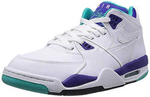 NIKE Air Flight 89 Basketball Shoes White Dark Concord Hyper Jade 306252 113
