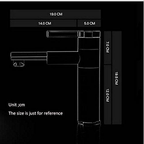 Homelody – Elegante Einhebel-Waschtischarmatur, ohne Ablauf, 2-facher Schwenkauslauf 360°, Weiß-Chrom - 3